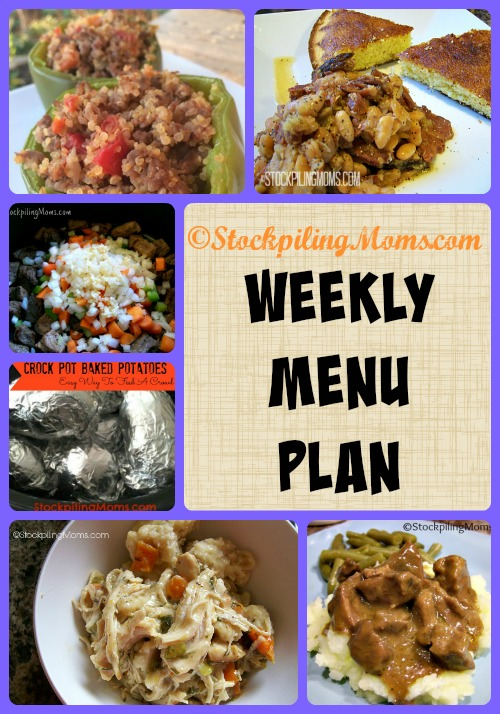 Here is our Weekly Menu Plan to help save time and money on your weekly dinners!