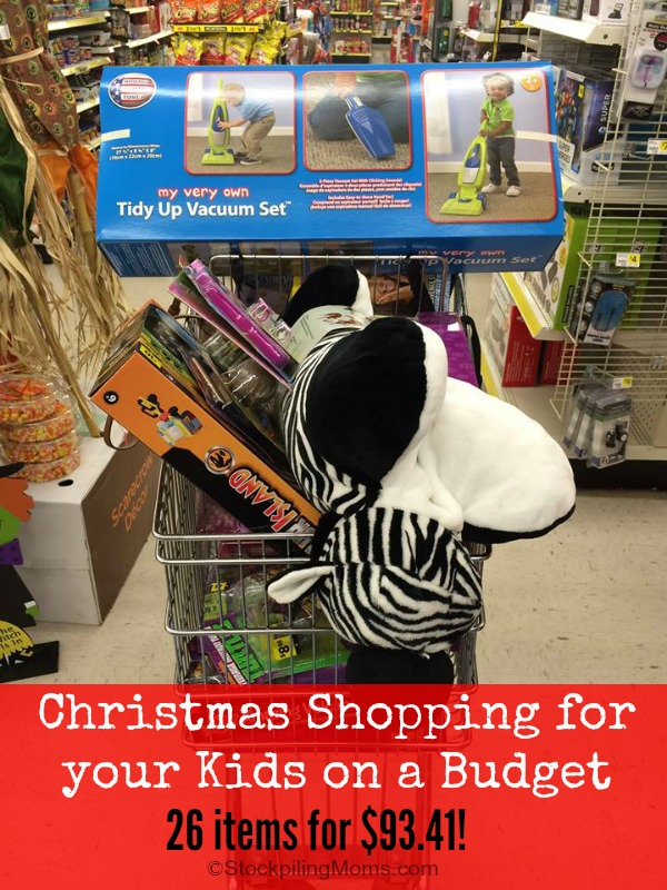 Christmas Shopping for your Kids on a Budget - 26 items for $93.41