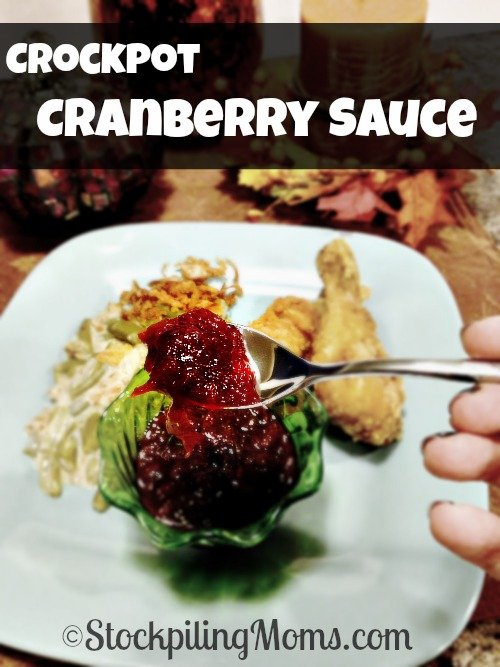 Crockpot Cranberry Sauce is so easy to make and tastes better than from a can! Plus your house will smell amazing while cooking this delicious, tart recipe.