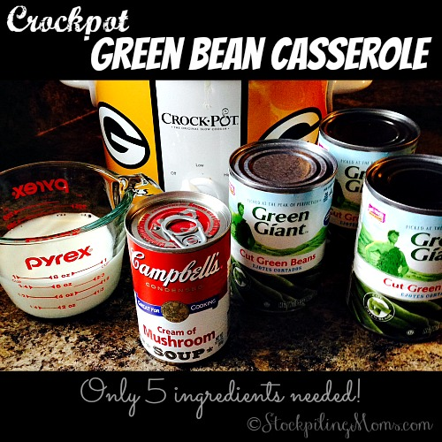 There is nothing more traditional than having Green Bean Casserole for the holidays in my family. To make it easier I make it in the slow cooker!