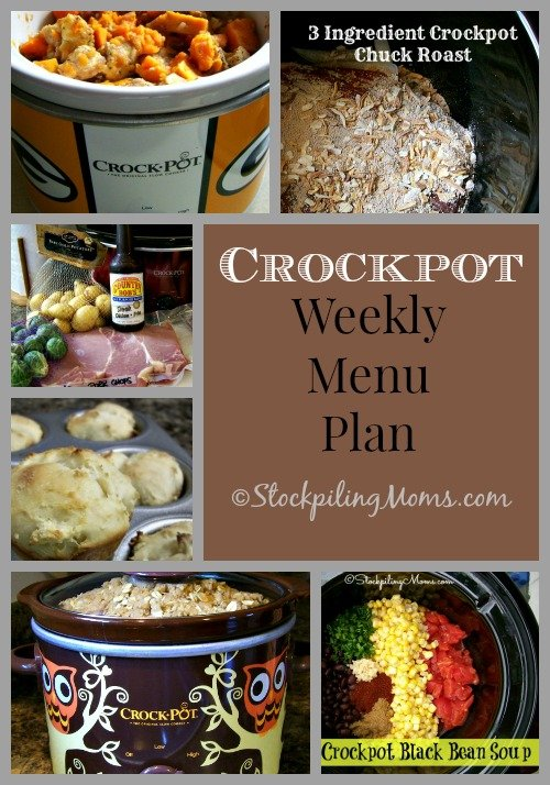 Enjoy our Crockpot Weekly Menu Plan that will help you know what's for dinner this each night this week!