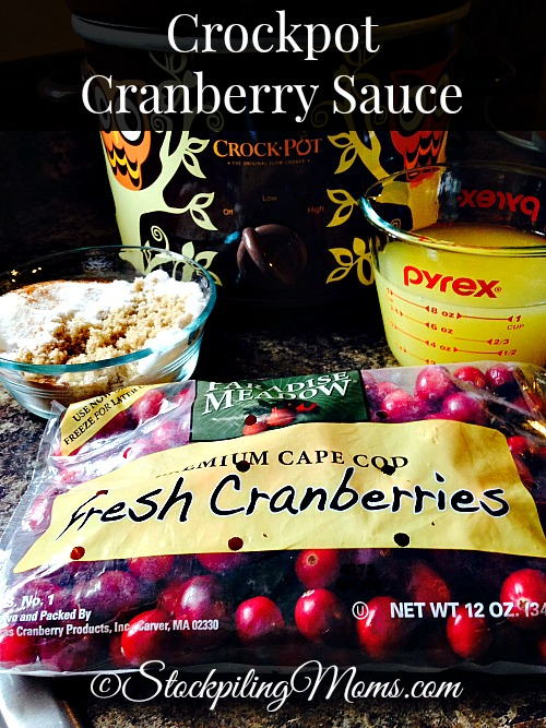 Crockpot Cranberry Sauce is so easy to make and tastes better than from a can! Plus your house will smell amazing while cooking this delicious recipe.