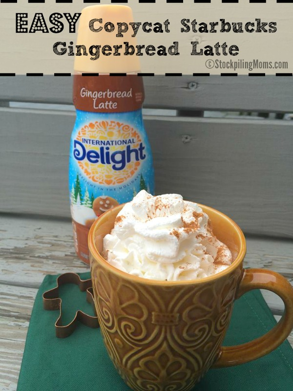 Easy Copycat Gingerbread Latte Recipe - Saves you time and money!