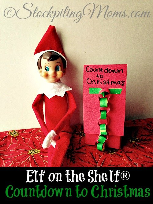 Elf on the Shelf® Countdown to Christmas - Our Elf made us a Countdown to Christmas chain!