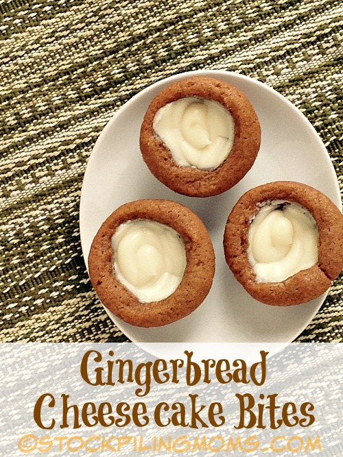 Gingerbread Cheesecake Bites are delicious and super easy to make for the holidays. You only need a few items to make these scrumptious dessert bites.