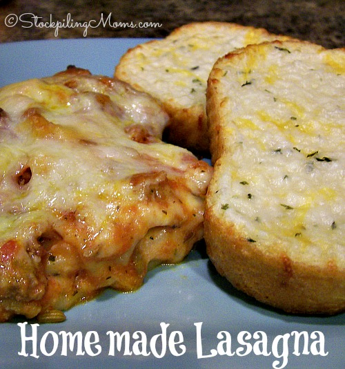 Homemade Lasagna is a such a great pasta dinner recipe! The sauce is made from scratch and the creamy filling is too good!
