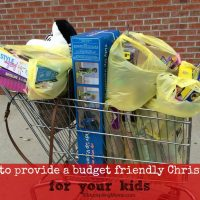 How to provide a budget friendly Christmas for your kids