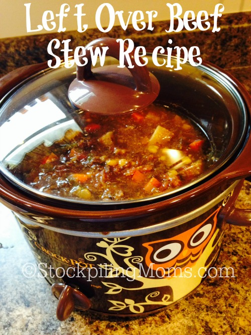 Left Over Beef Stew Recipe is a an amazing meal that is made from leftover vegetable soup. Perfect for a cold evening!