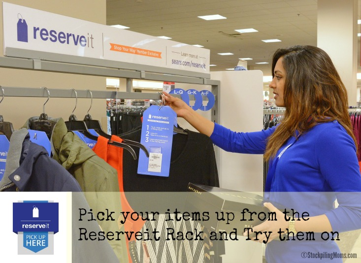 Pick up your items from the Reserve It Rck and Try them on