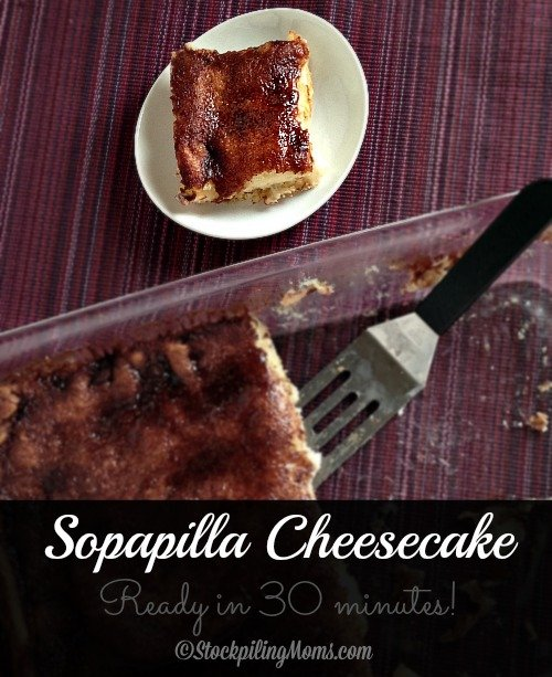 Sopapilla Cheesecake is so good you can eat it for breakfast or as a dessert! With the combination of cream cheese, crescent rolls and cinnamon you can not go wrong!