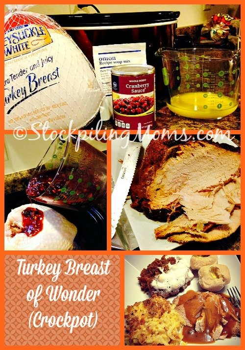Turkey isn't just for November for my family we love to eat it all the time! Especially this fabulous, couldn't be EASIER (5 minutes prep is all you need), moist, tender, shred-able, Turkey Breast of Wonder.