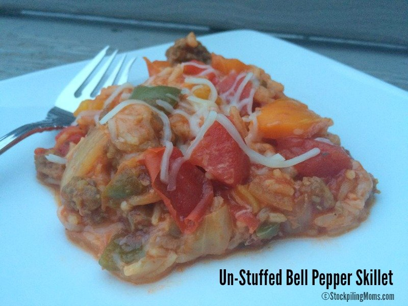 Un-Stuffed Bell Pepper Skillet Supper Recipe is a super easy recipe that the whole family will love!
