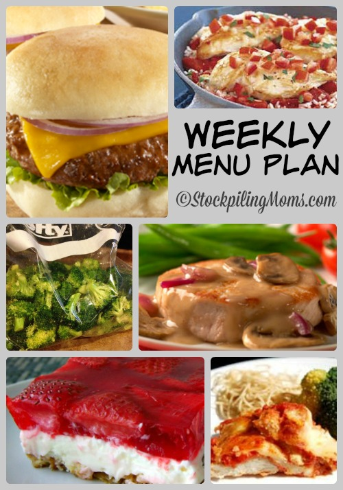 Weekly Menu Plan to help you save time in the kitchen on planning dinners and save money in your budget!