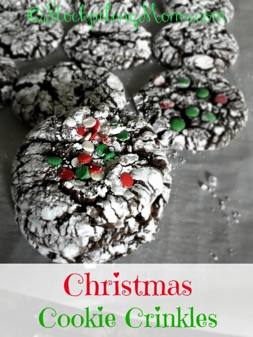 Christmas Cookie Crinkles are so soft and chewy! Only 5 ingredients needed to make them and they are quick & easy!