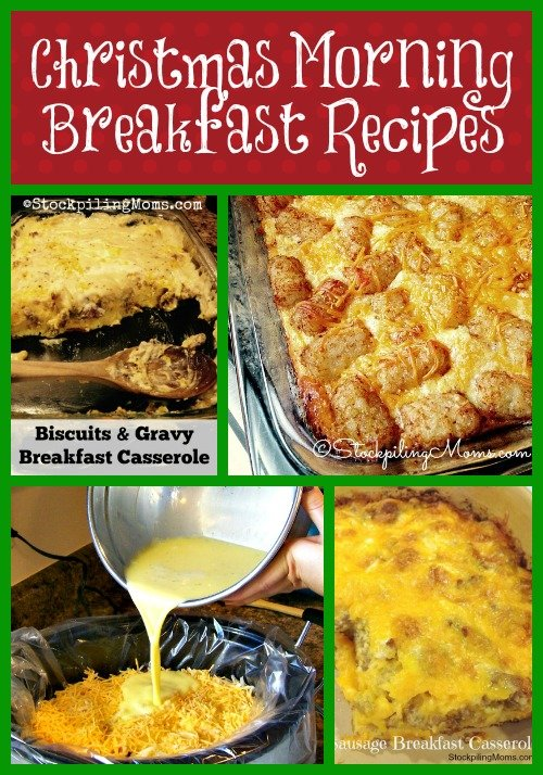 Christmas Morning Breakfast Recipes that are perfect to make the day before or cook all night in your crockpot!