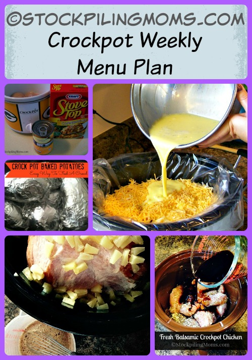 Crockpot Weekly Menu Plan - Great way to save time and money in the kitchen!