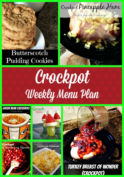 Crockpot Weekly Menu Plan - We love using our slow cookers to help allow us more time to be with our kids and get our errands and cleaning done.