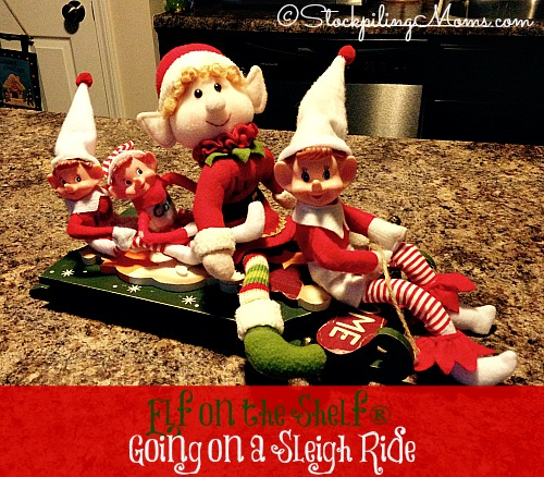 Elf on the Shelf® Going on a Sleigh Ride - Let's go for a ride with our friends!