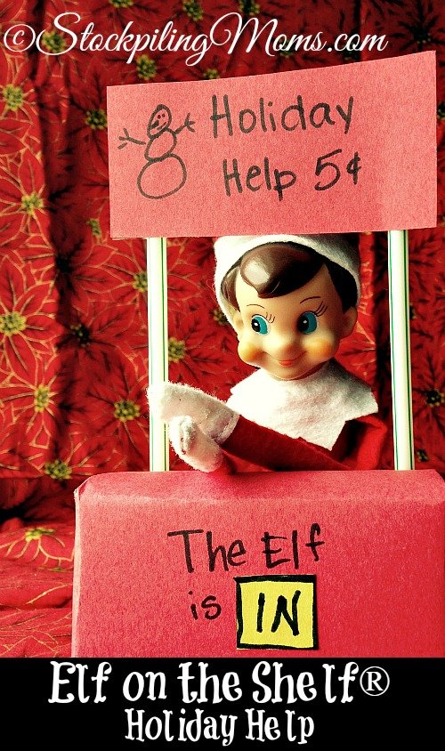 Elf on the Shelf® Holiday Help - Are the Holidays stressing you out??? Here's a stand with Help sign and the Elf doctor is IN! Charlie Brown anyone???