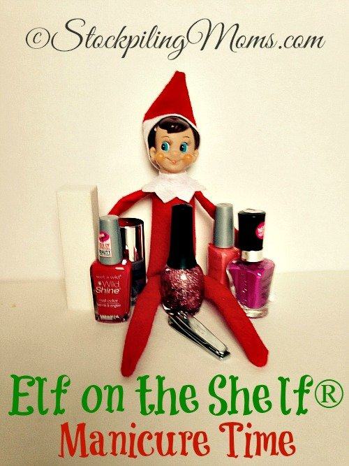 Elf on the Shelf® Manicure Time - Elf is ready to have some fun doing a Manicure!