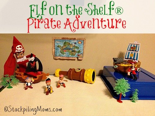 Elf on the Shelf® Pirate Adventure - Our elf is trying to get Captain Hook with help from Jake and the Neverland Pirates!
