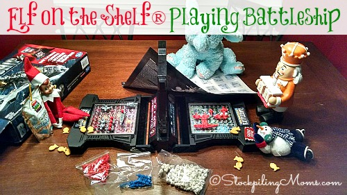 Elf on the Shelf® Playing Battleship - Elf joined his friends for a fun game during the night!