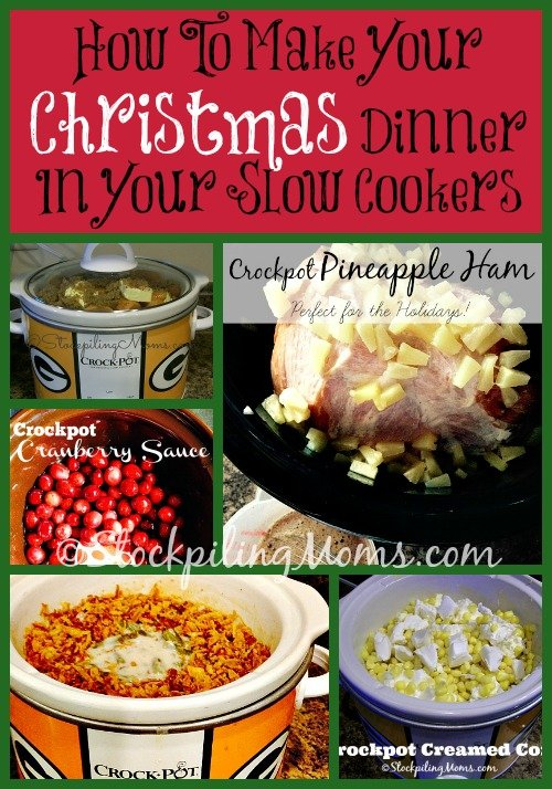 How to make your Christmas dinner in your slow cookers.