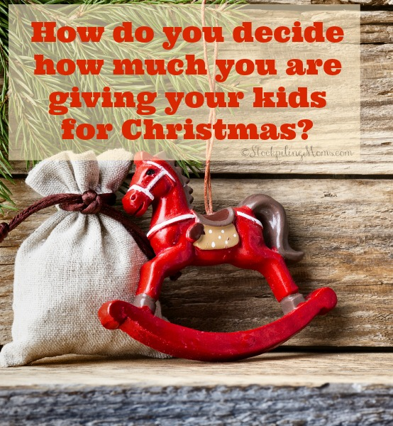 Christmas Giving.How Do You Decide How Much You Are Giving Your Kids For