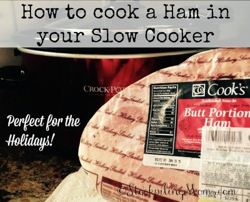 How to cook a Ham in your Slow Cooker - Perfect for Christmas or any holidays!