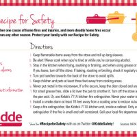 Kidde Recipe for Safety Giveaway – CLOSED