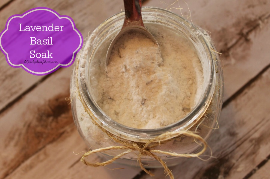 Lavender Basil Bath Soak - so easy to make and your body will thank you! It removes toxins and helps you relax after a long stressful day!
