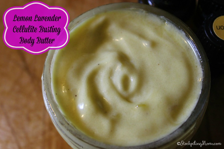 Lemon Lavender Cellulite Busting Body Butter - Great Gift Idea
