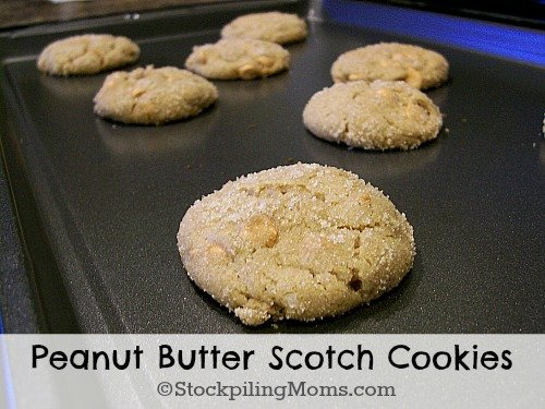 Peanut Butter Scotch Cookies are amazing! They are so good, soft and chewy.