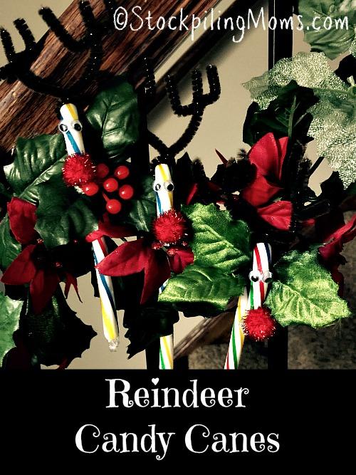 Reindeer Candy Canes are such a cute and simple DIY Craft!
