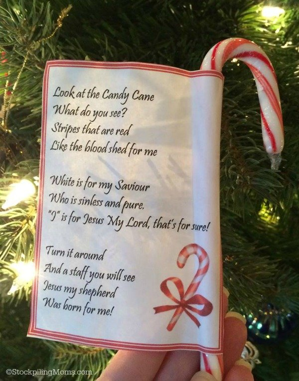 Religious Candy Cane Poem Craft for Christmas