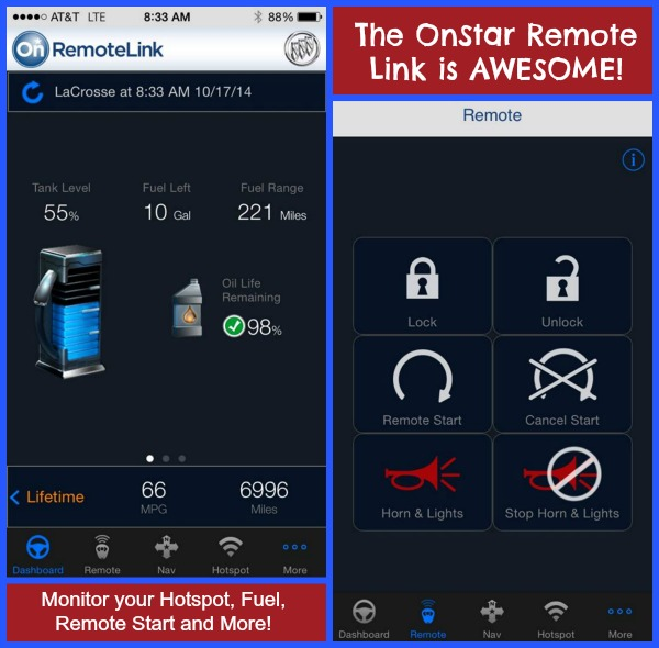 The OnStar Remote Link is Awesome! Monitor your Hotspot, Fuel, Remote Start and More!