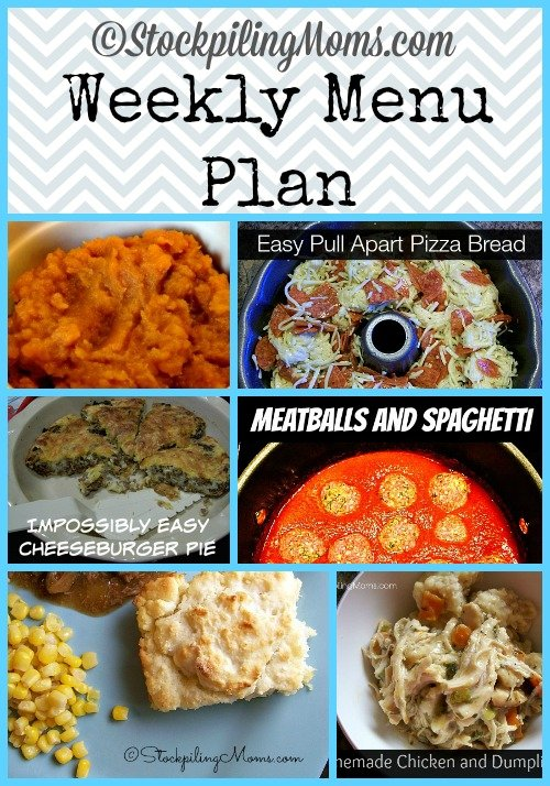 Here is our Weekly Menu Plan to help save us time and money on dinners this week!