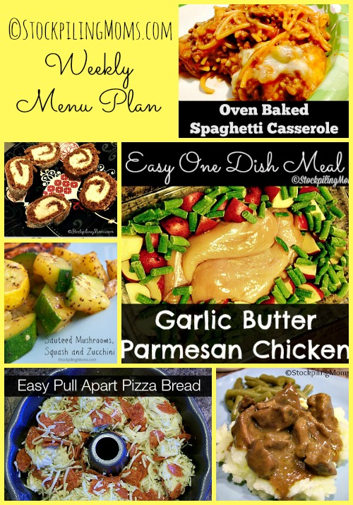 Weekly Menu Plan to help you budget and save time!