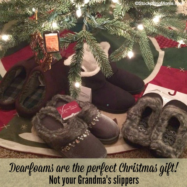 Dearfoam slippers are perfect for Christmas!