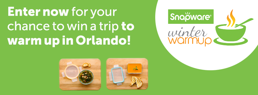 Enter now for your chance to win a trip to warm up in Orlando, FL with Snapware and Emeril