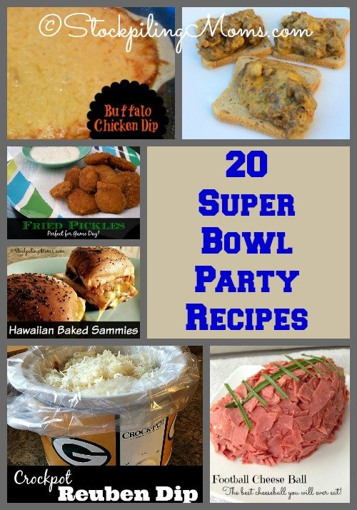Will you be watching the big game this year? If so here are 20 Super Bowl Party Recipes that will be perfect appetizers for everyone!