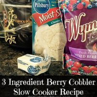 3 Ingredient Berry Cobbler Slow Cooker Recipe