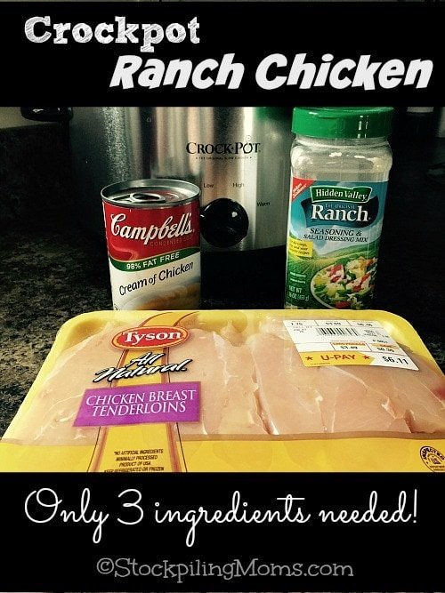 Crockpot Ranch Chicken is amazing and you only need 3 ingredients for this recipe!