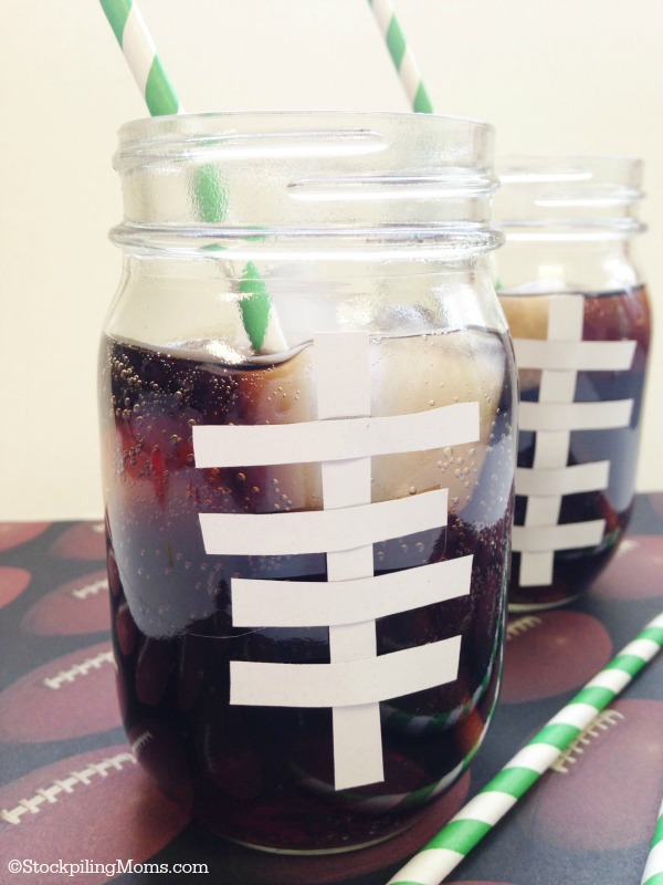 DIY Football Drinking Glasses - Perfect for game day!