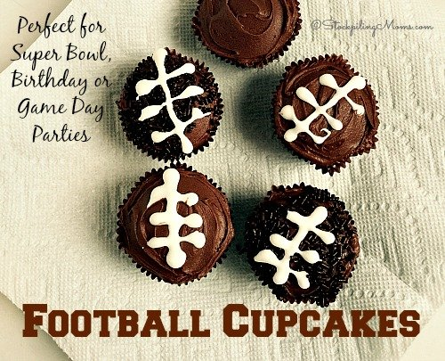 Football Cupcakes are the perfect dessert for Super Bowl parties, football game day or a themed Football birthday party!