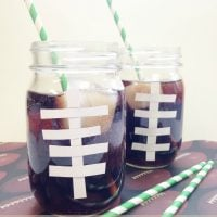 Frugal Football Fun: DIY Football Drinking Glasses