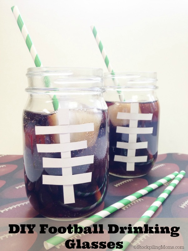Frugal Football Fun - DIY Football Drinking Glasses are perfect for game day!