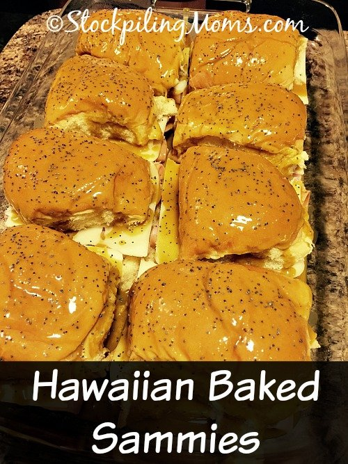 Hawaiian Baked Sammies are such a great appetizer for parties, but my family and I love to have them for dinner as well.