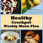 Healthy Crockpot Weekly Menu Plan
