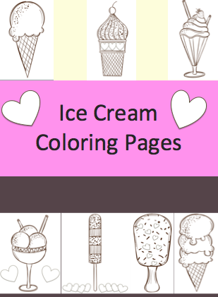 Ice Cream Coloring Pages - Free Printables